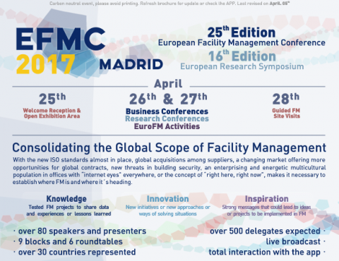 Próximo Evento: EFMC 2017 – Madrid (25-28 Abril)